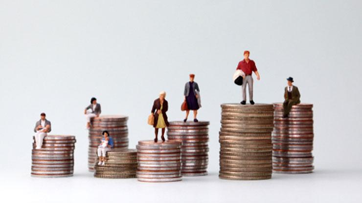 収入格差を表す絵