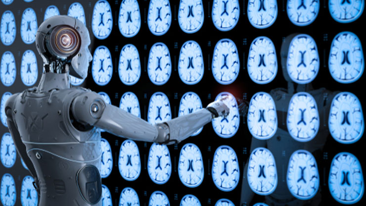 ロボットが診断している画像
