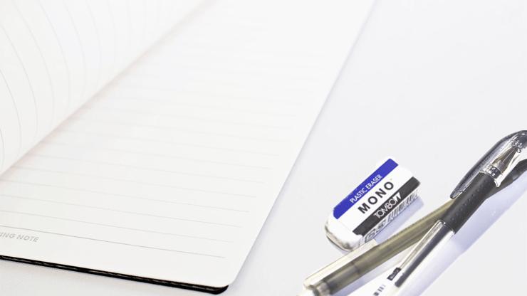 ノートと筆記具